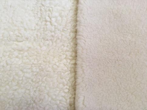 Birka vs. bárány gyapjú takaró