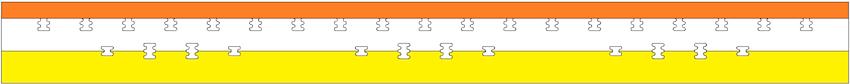 Deep Zone EMC HD matrac keresztmetszet
