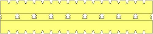 Small Springy HD habrugós matrac hosszmetszete