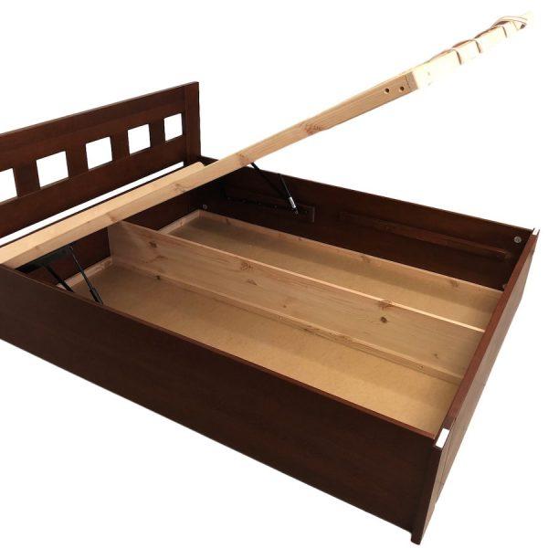 Jana bükk ágyneműtartós ágy