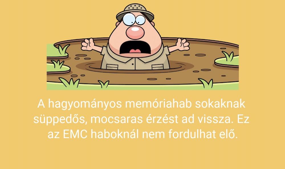 az EMC hab matrac jobb, mint a memóriahab